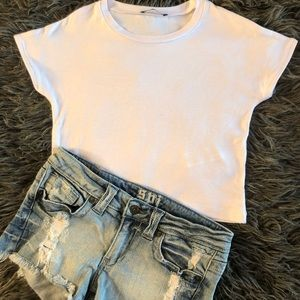 Zara cropped Tee Size S (but fit like XS) New